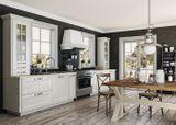 Кухня- Арли. Фасад – массив + шпон ясеня.
