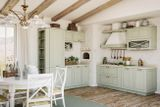 Кухня «Эри». Фасад: массив + шпон дуба