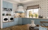 Элегантная кухня с фасадом из массива ясеня и стильными итальянскими витражами