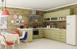 Кухня Маринара. Фасад: массив+шпон ясеня.