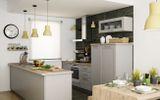 Фасад – массив + шпон ясеня. Современная кухня с уникальным сочетанием цена/качество. Новинка 2015 года.