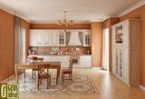 Фасад – массив ясеня. Элегантная кухня в стиле «кантри».