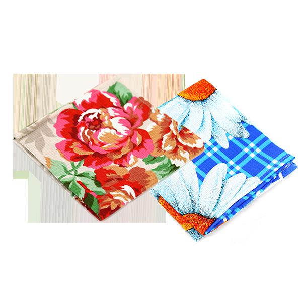 """Полотенце ваф.38*75 """"Цветы"""" в ассортименте"""