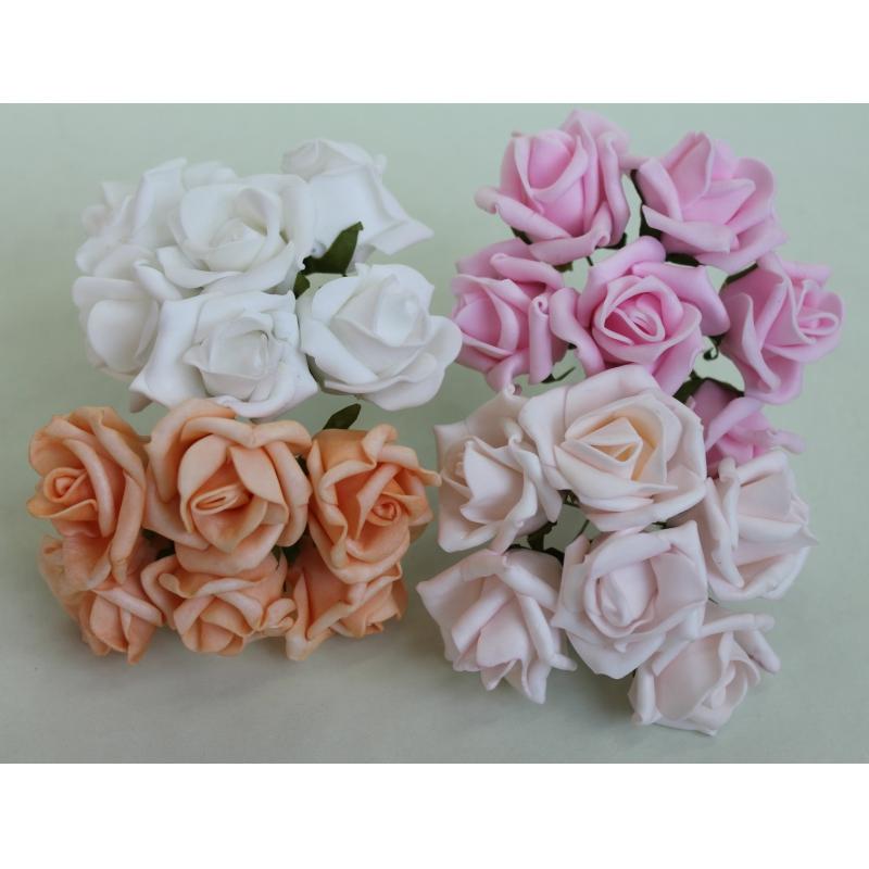 Б9826 Букет латекс. роза H14 (12)