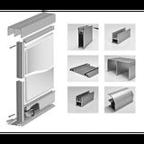 Алюминиевый профиль для шкафов купе DecoLine. Раздвижная система.