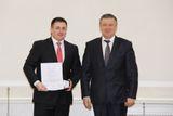 После вручения наград за победу в международной выставке в Санкт-Петербурге