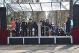 Ярослава Алексеева выступает на митинге в г.Пудоже