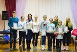 Участники конкурса с преподавателем О.А.Коквиной