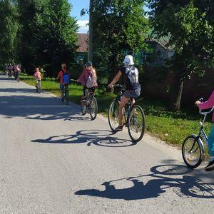 """30 июня 2021г. для обучающихся ГАУ РО """"СШ"""" Елатьма"""", был организован велосипедный поход"""