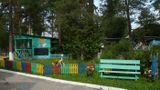 Территория детского сада. Вид на прогулочную веранду группы №1