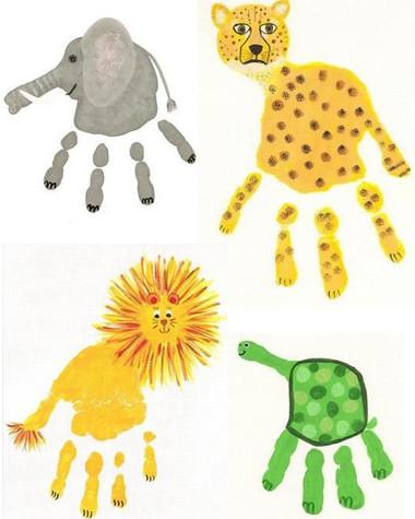 Описание: Рисуем пальчиками и ладошками.