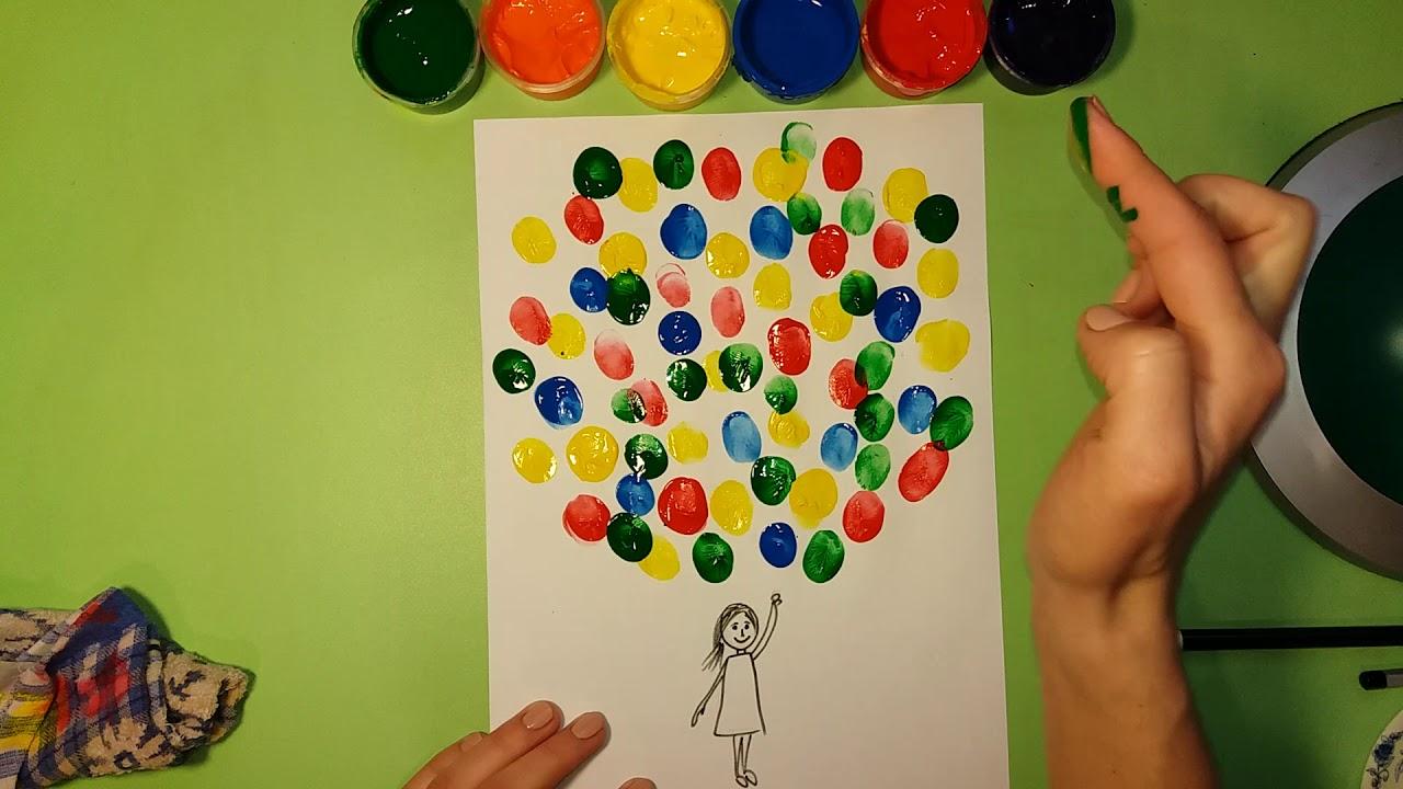 Описание: Пальчиковое рисование. Как рисовать пальчиками? Рисуем подарок ...