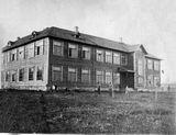 Луковниковская школа (1938 г., сожжена немцами) в 1941 г.