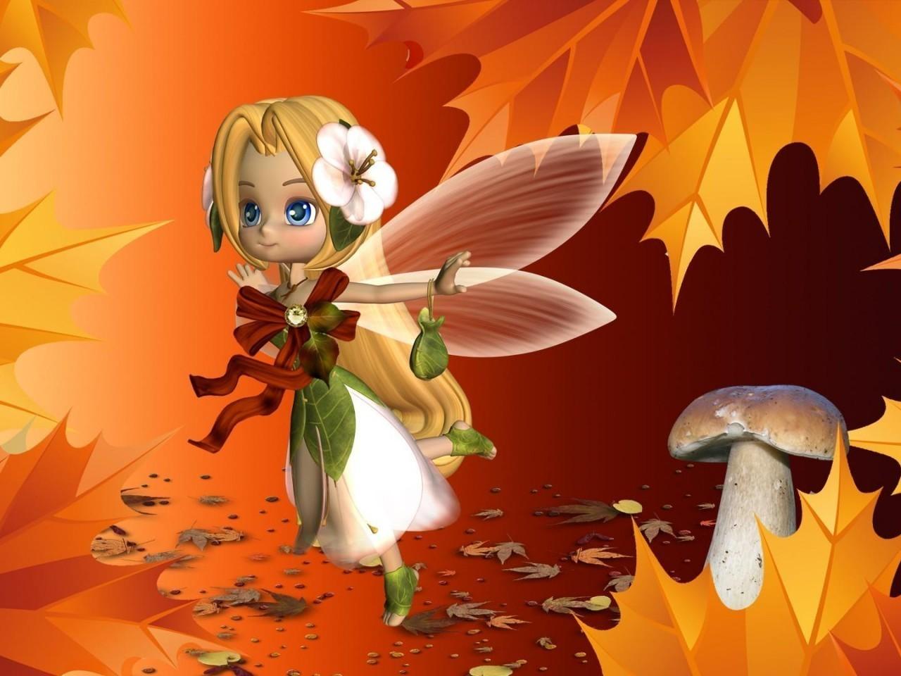 уход картинка фея в осеннем лесу перенёс операцию