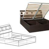 Кровать с подъемным механизмом 1400/1600 ДхШхВ: 2276х1480/1680х865