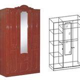 Шкаф 3-хстворчатый ШхВхГ: 1369х2360х00