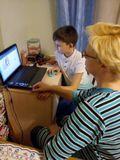 """Прохождение теста по интернет безопасности с родителями  4""""Б"""" класс"""