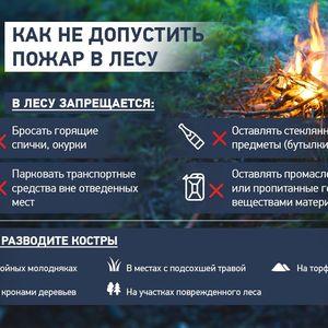 Напоминаем о правилах соблюдения пожарной безопасности