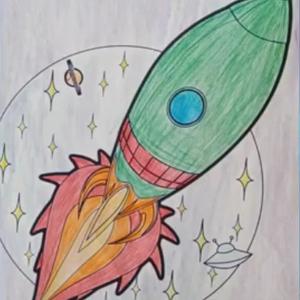 Выставка рисунков посвященная 60-летию первого полета человека в космос