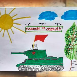Выставка детских патриотических рисунков в Кузьминском СДК