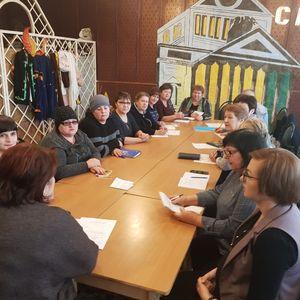 Производственное совещание среди работников КДУ района