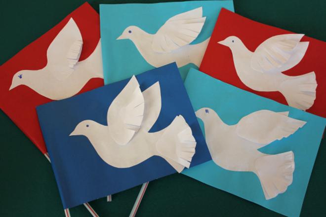Флажки голубь мира