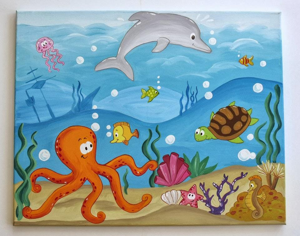 Подводный мир открытку в дет сад рисунок
