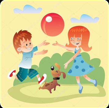 Описание: https://st2.depositphotos.com/4323461/6368/v/950/depositphotos_63685621-stock-illustration-kids-and-dog-play-outdoors.jpg