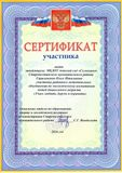 Сертификат участника РМО-2016