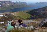 """Где же земляяя. Головинова Евгения. Норвегия, Лофотены. Номинация """"Люди на скалах и в горах""""."""
