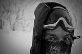 """Снежный шпион. Тиккоева Надежда. Карелия. Номинация """"Люди на скалах и в горах"""""""