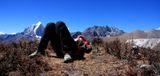 """Активный отдых. Ланев Андрей. Акклиматизационный выход на 4800 м.  Номинация """"Люди на скалах и в горах""""."""