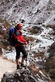 """Навстречу приключения. Ланев Андрей. Тропа вдоль горной реки. Номинация """"Люди на скалах и в горах""""."""