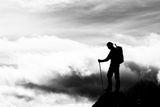 """Роман с облаками. Иванникова Ирина. Альпы. Номинация """"Люди на скалах и в горах"""""""