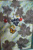 виноградная лоза ( работа из кожи, аппликация))