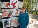 2016г Выставка рисунков уч-ся школы искусств  к 70 летию Великой Победы