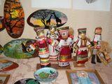 Куклы в мордовских костюмах(изготовление кукол из мочало, шитье костюмов, декорирование