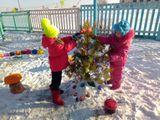 Ёлочка, елочка, хороша красавица ледяными фигурками, елка наша славится!»