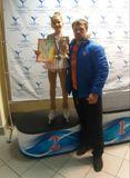 Анастасия Михайлова и тренер Никита Жиглов