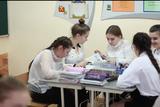 Работа группы на открытом уроке по химии (февраль 2019г.).