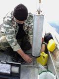 Taking water samples