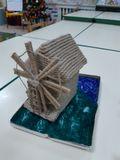 Приз зрительских симпатий – Восьмикрылая ветряная мельница на острове Кижи. Автор - семья Васильева Макара.