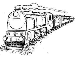 Раскраска поезд. Распечатать картинки поезда с вагонами.