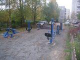 Установка уличных тренажеров по ул. Ровио, 20 в г.Петрозаводск, стоимость проекта -440 тыс.рублей, подрядная организация – ИП Кулезнев В.М