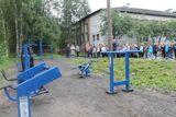 Установка уличных тренажеров по ул. Советская в п.Ладва, стоимость проекта -386 тыс.рублей, подрядная организация – ООО «Контрейд»