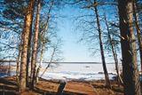 Подход к озеру с русской бани