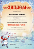 Диплом за победу в номинации: Ансамблевое мастерство
