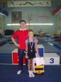 Тренер, Мастер спорта по спортивной гимнастике со своим чемпионом!