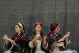 Ведущие праздника - учащиеся театрального отделения