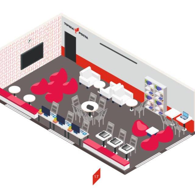 Оформление проектной зоны центра «Точка Роста»